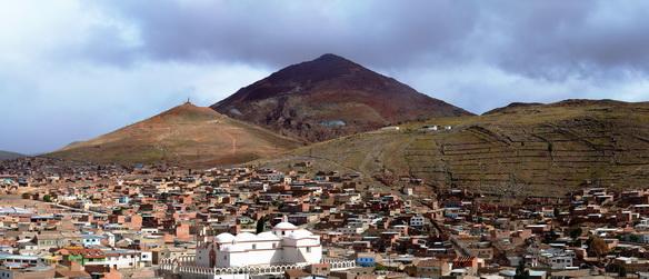 El Cerro Rico de Potosí sigue explotándose marginalmente en la actualidad.