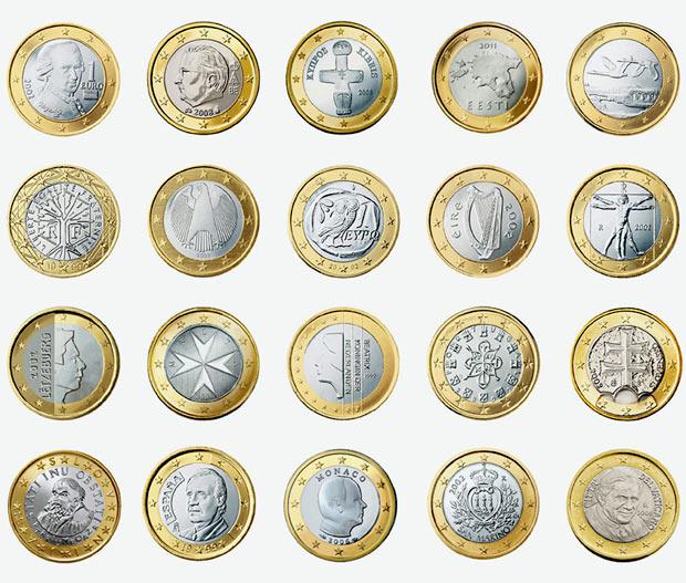 Как выглядит евро монеты и